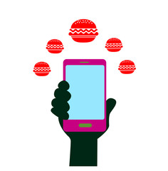 smart phone icon communication food delivery