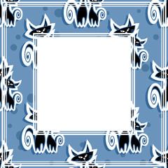cats blue border