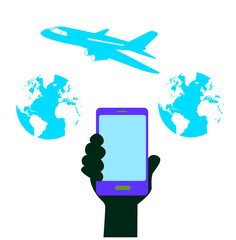 smart phone icon communication transportation
