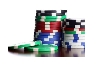 poker chips Cards