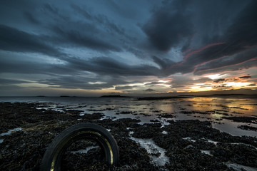 Tramonto solitario islandese