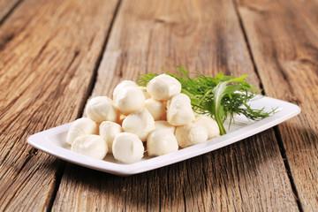 Fresh mozzarella cheese balls