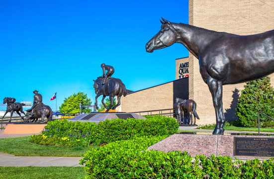 U.S.A. Texas, Route 66, Amarillo,  the horse monuments of the American Quarter Horse Association