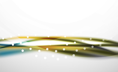 Colorful wave line, abstract background with light and shadow
