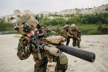 U.S. Army soldiers during the military operation
