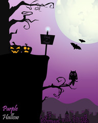 Halloween In Purple