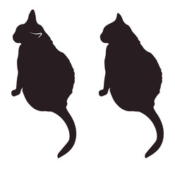 Black cat silhouettes vector illustration