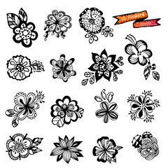 flowers vector,doodle