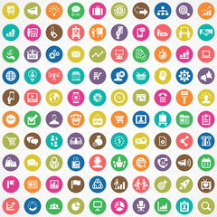 marketing 100 icons universal set