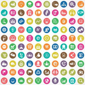 marketing 100 icons universal set