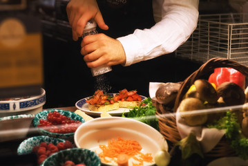 Preparazione Bruschette al Pomodoro