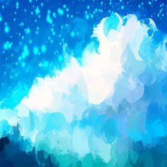 Starry sky brush strokes background.