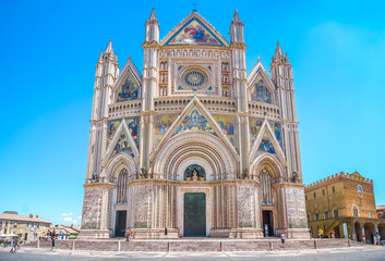 Cathedral of Orvieto (Duomo di Orvieto), Umbria, Italy Wall mural