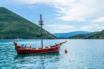 View on old ship in Perast
