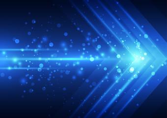 Foto op Plexiglas Licht, schaduw Abstract vector speed technology background, illustration