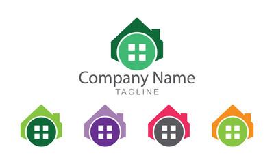 Home Real Estate and Property Logo Vector