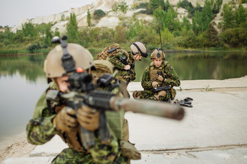 Canadian Army soldiers during the military operation