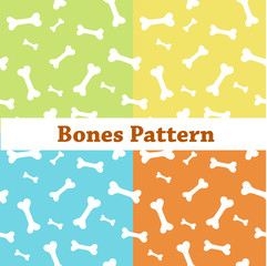Bones pattern, colorful background with bones