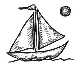 sailboat doodle