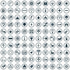green energy 100 icons universal set