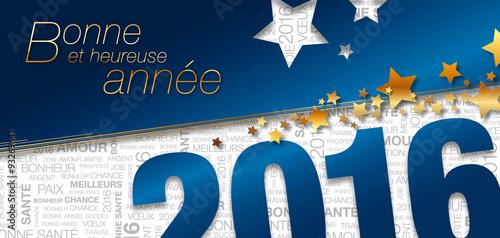 Carte de voeux 2016 bleue toiles texte fichier vectoriel libre de droits sur la banque d - Carte voeux gratuite 2017 ...