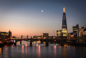The Shard and River Thames, London Wall mural