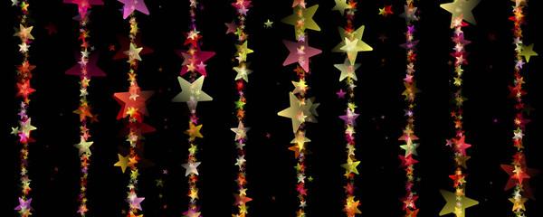 wonderful christmas design with glowing stars