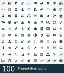 presentation 100 icons universal set