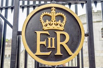 Queen Elizabeth II Royal Crest Logo