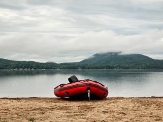 raft on a beach