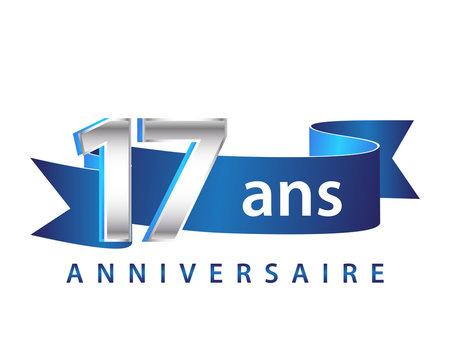 17 Ruban Bleu logo Anniversaire