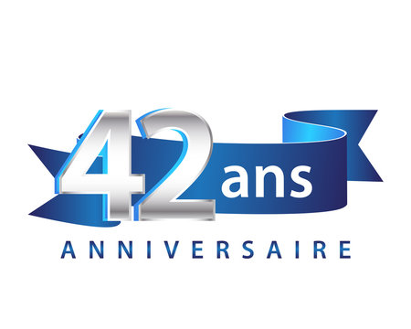 42 Ruban Bleu logo Anniversaire