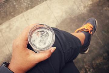 Selfie of drink water