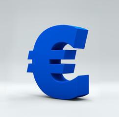 Euro word on white isolated background