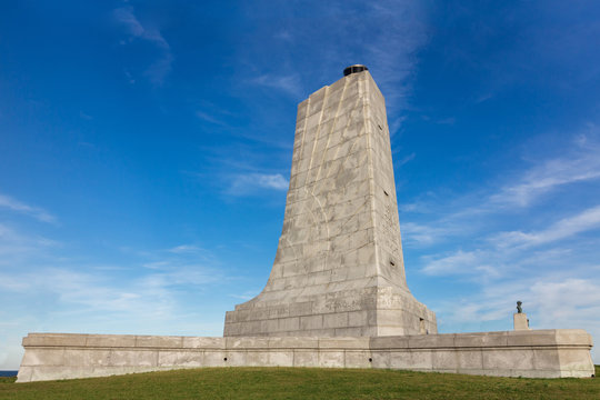 Wright brothers first flight memorial, NC, USA.