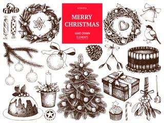 Vector Christmas wreaths illustration