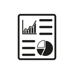 Fototapeta The business report icon. Audit and analysis, document, plan symbol. Flat