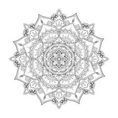 Ornamental circle pattern. Mandala