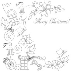 Background  with Christmas things_Artboard 1