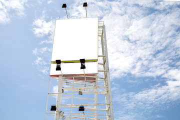 Blank billboard  for your advertisement,on blue sky