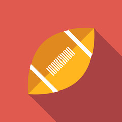 Rugby flat icon