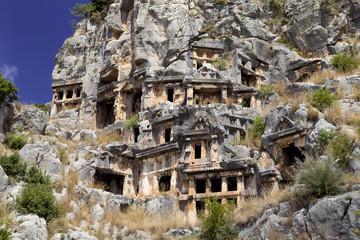 rock tombs of Demre Myra, Turkey