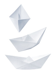 Set of collection paper boat