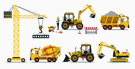 Vehicle construction and equipment used in construction.
