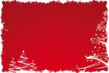 Christmas tree in red