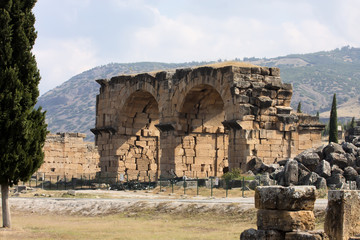 Hierapolis, Turkey. Ancient tombs in the necropolis II - XIX century