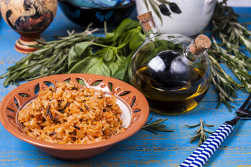 Greek rice with tomatoes