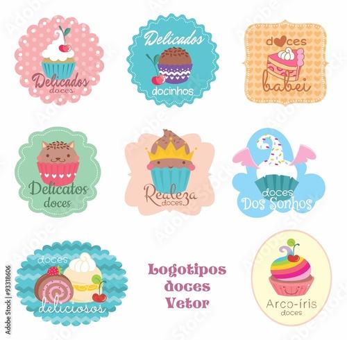 Amado Etiquetas, tags. adesivos doces, docinhos, doce, logo, vetor  HQ37