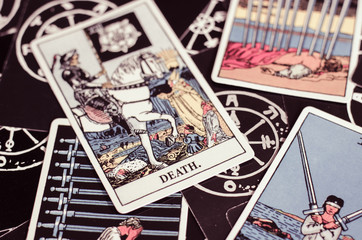 The Tarot - Card of Death and Other Cards.