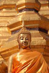 Gold Buddha statue,Thailand